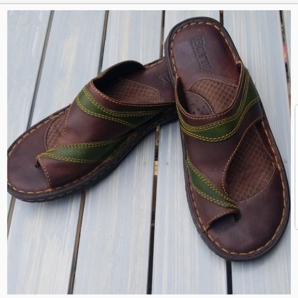 Born Leather Toe Loop Sandals | Poshmark